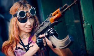 woman with gun: revenge yay